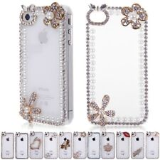 Luxury 3D Bling Crystal Diamond Clear Case Cover Protector for iPhone 4 4G 4S