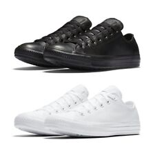 New Converse Chuck Taylor All Star Leather Sneakers Low Top Black White Shoes