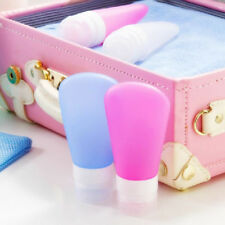 Portable Refillable Silicone Container Bottle Lotion Shampoo Travel Kit Cute