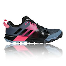 adidas Womens Kanadia 8.1 Trail Shoes Black Grey Pink Sports Running Breathable