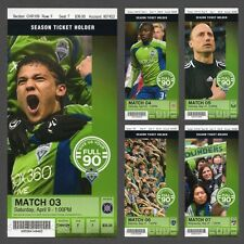 2011 SEATTLE SOUNDERS FC 3rd MLS Full Season Ticket Stubs 2016 MLS CUP CHAMPIONS