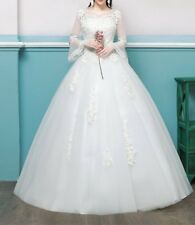 New Bridal Wedding Dress lace bead gown princess fashion chic tulle romance