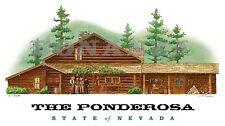 BONANZA Pondersoa Ranch #31 Art Print with Ben, Adam, Hoss, Little Joe