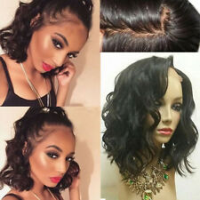 Swiss Lace Indian Human Hair Wig Straight Curly Wave Full Lace Wigs No Tangle 1B
