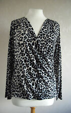 NEW - Together - S M L & 3XL  Black/White/ Grey animal print ladies TOP - BNWoT