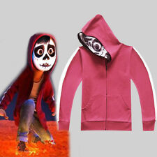 CoCo Miguel Riveras Cosplay Costume Red Mask Thin Hoody Fleece Jacket Kid Coat