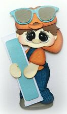 BOY HOLDING ICE POP SUMMER PREMADE PAPER PIECING BY MY TEAR BEARS KIRA
