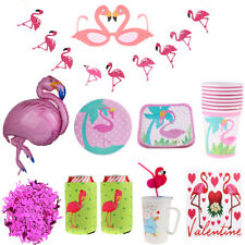 Hawaiian Luau Party Flamingo Theme Balloon Garland Straws Tableware Party Decor