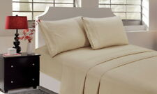 Bedding Cover Set Flat Fitted Queen Size Bed Sheet Pillowcase Solid Color US