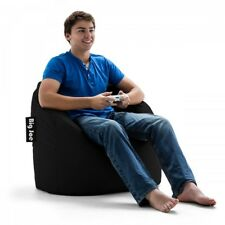 Adult Bean Bag Chair Black Portable Teens Dorm Bedroom Relaxing Lounge Seating