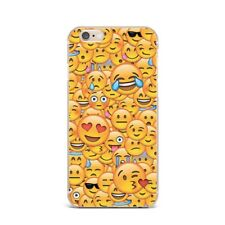 Cute Funny Emoji Smile Design Silicone Rubber Gel Case For IPhone 4S 5S 6S 7+