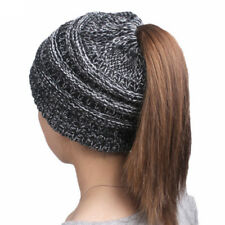 Fashion winter women's knitting wool hat earpiece cap with a ponytail cap hot``