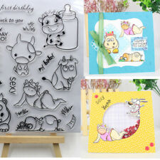 NEW Album Paper Card Embossing Cut Dies+Clear Stamp Stencils Scrapbooking Cow