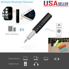 Wireless Bluetooth 4.1 3.5mm AUX Audio Stereo Music Home Car Receiver Adapter US