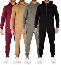 Mens Tracksuit Skinny Slim Fit Joggers & Longline Hoody Zip Up Hooded Top by AD