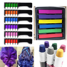 Non-toxic 36 Coloring Temporary Dye Hair Chalk Comb Dyeing Party DIY Salon Lots