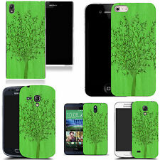 hard durable case cover for most mobile phones - green grain tree