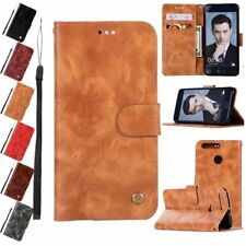 Lanyard Flip Leather Dirtproof Stand Wallet Case Cover For Huawei Ascend P9 P10