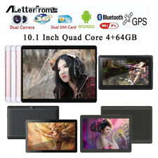 3G 10.1'' 4+64GB Tablet PC Android 4.4 Octa Core Dual SIM HD Wifi+ Keyboard+Case