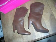FORNARINA MID boots brown leather NEW Valeur179E heel 8.5cm Sizes 35