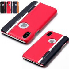 Ultra-Thin Slim Leather Hard Back Case Cover For iPhone X 8 Plus/7 Plus/6S/5S/SE