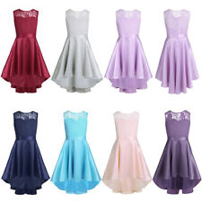 Kids Flower Girls Birthday Princess Pageant Wedding Party Pageant Formal Dress