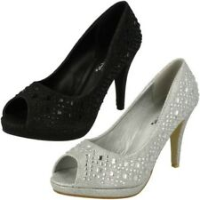 Ladies Anne Michelle Diamante 'Court Shoes'