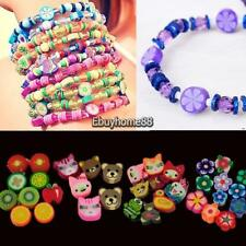 100 PCS Clay Beads DIY Slices Mixed Color Fimo Polymer Clay EHE8