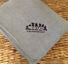 RESCUED IS MY FAVORITE BREED DOG CAT LOVER PERSONALIZED FLEECE THROW BLANKET