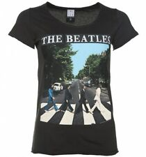 Official Women's Charcoal The Beatles Abbey Road T-Shirt from Amplified
