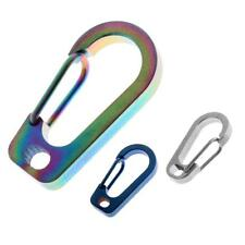 Titanium Alloy Carabiner Clip Spring Keychain Quick Hook Outdoor
