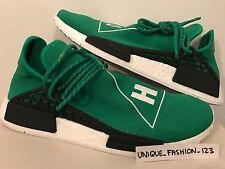 ADIDAS NMD HUMAN RACE HU PHARRELL PW UK 4 5 6 7 8 9 10 11 12 GREEN WHITE BOOST