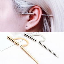 Fashion Unisex Punk Ear Clip On Cuff Wrap Cartilage Tragus Earring No Piercing
