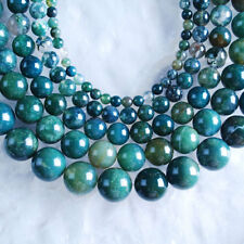 VD2686-2690 Wholesale Moss Agate Ball Loose Beads 4mm 6mm 8mm 10mm 12mm Pick