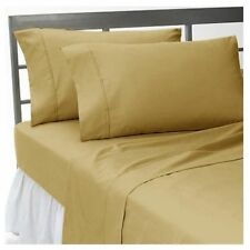 All US RV Sizes Bedding Items 1000 TC Egyptian Cotton Taupe Solid/Stripe