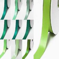 """by the 5 yards Single faced satin ribbon 3/8"""" / 9mm.lime to green"""