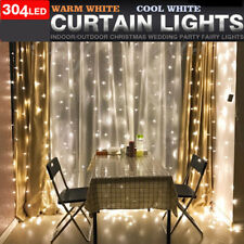 3*3M 304 LED Icicle String Fairy Lights Window Wall Curtain Christmas Decoration