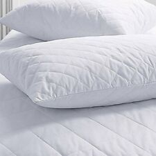 SET OF 2 NEW ZIPPERED QUILTED PILLOW COVERS STANDARD SIZE Sheets Pillowcases