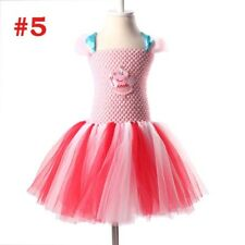 Girls Peppa Pig Pink Blue Tutu Princess Party Ballet Dance Dress 3-12Y