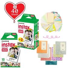 40 Sheet - Fujifilm Instax Mini White Film for Fuji Mini 9 8 90 70 Polaroid Xmas