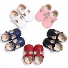 Soft Sole PU Leather Baby Infant Boys Girls Shoes Toddler Prewalkers Size 0-18M