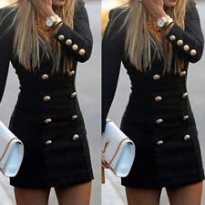 New Women's Long Sleeve Bodycon Evening Party Cocktail Short Mini Dress Fashion
