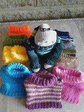 HAND KNITTED PG TIPS MONKEY/CHIMP CHUNKY ROLL NECK JUMPER OR BOOTS.