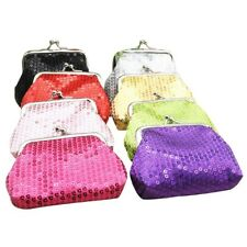 Women Lady Girls Small Sequin Coin Clasp Wallet Purse Pouch bag Shiny Sequins