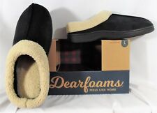 Dearfoams Men's Microsuede Clog Slippers Black Medium~Large~X-Large with box