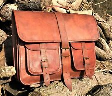 Bag Leather Men Shoulder Messenger S Briefcase Laptop Satchel Vintage Genuine