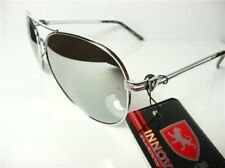 Khan New Mens Womens Mirror Sunglasses Designer Vintage UV400 Black Aviator K27