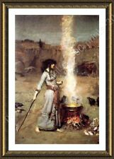FRAMED Poster The Magic Circle Waterhouse Framed Print For Living Room Giclee