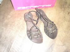 FORNARINA leather sandals brown+golden NEW Value 79TH Sizes 36,38