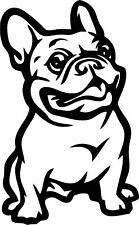 French Bulldog Sitting Frenchie Dog - Vinyl Car Window and Laptop Decal Sticker